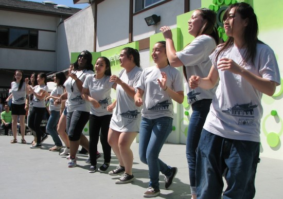 The Young Women's Group gave a dance performance.