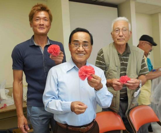 From left: Happy Mizutani, Sadao Tome (president), Yoshihito Yonezawa.