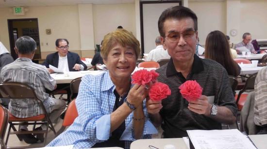 Chako Ryu and Chogi Higa, former Nanka Kenjinkai Kyogikai president.