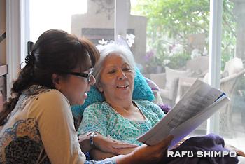 約12年前にアルツハイマー病と診断された筒井和子さん