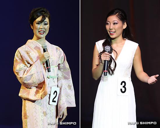 ミス・トモダチのアシュリ・アリカワさん(写真左)とファースト・プリンセスのリンジー・エミコ・スギモトさん(同右)