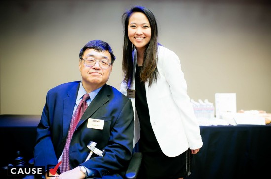CAUSE Assistant Executive Director Kim Yamasaki and Chairman Charlie Woo. (Albert Liu Photography)