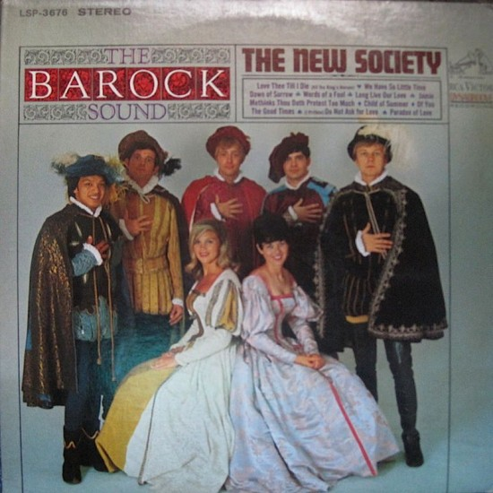 "1966 LP cover of ""The Barock Sound of the New Society"" with Del Ramos at far left."