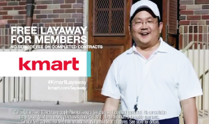 Aaron Takahashi in a recent commercial for Kmart.