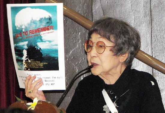 Kaz Suyeishi of the American Society of Hiroshima-Nagasaki A-Bomb Survivors (ASA).