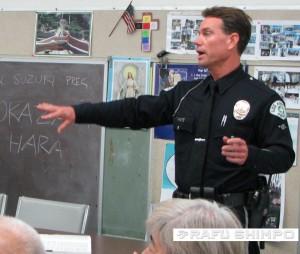 LAPD Officer Boka (J.K. YAMAMOTO/Rafu Shimpo)