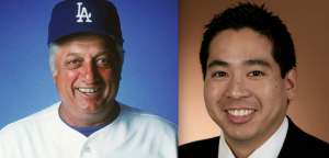 Tommy Lasorda and Scott Akasaki