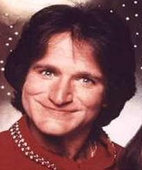 Robin Williams as Mork.