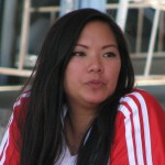 Neslie Ricasa, Joey Chestnut's fiancee, finished in 15th place.