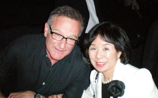 Robin Williams and Rep. Doris Matsui