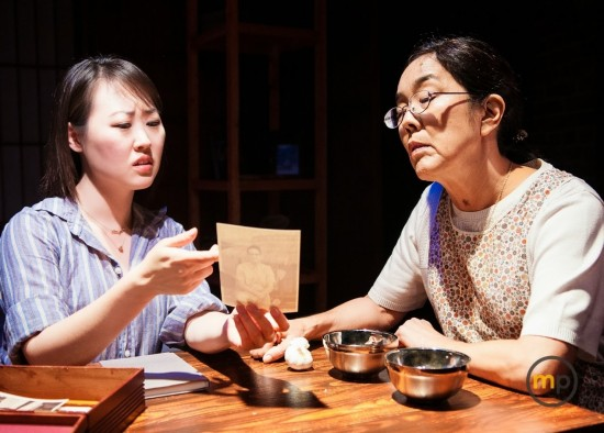 Julia Cho and Sharon Omi in 99 Histories. Photo by Michael Palma/M Palma Photography.
