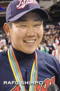 Daisuke Matsuzaka, seen after Japan won the 2006 World Baseball Classic, has been  working to regain his form after having Tommy John surgery in 2011.