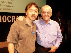 "The columnist with ""Karate Kid"" and ""Rocky"" director John Avildsen."