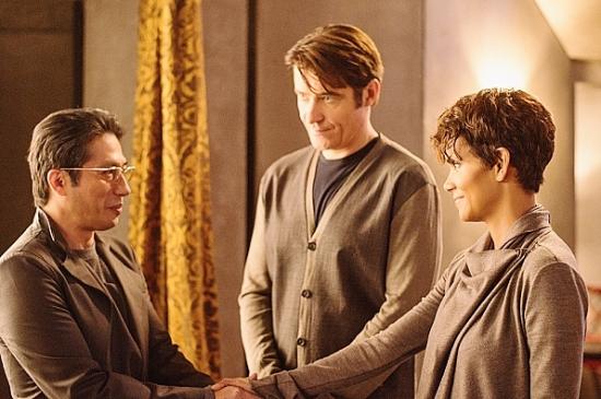 "Hiroyuki Sanada, Halle Berry, and Goran Visnjic in ""Extant."""