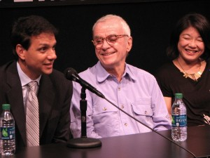 "Ralph Macchio, John Avildsen and Aly Morita share memories of the filming of ""Karate Kid."" (J.K. YAMAMOTO/Rafu Shimpo)"