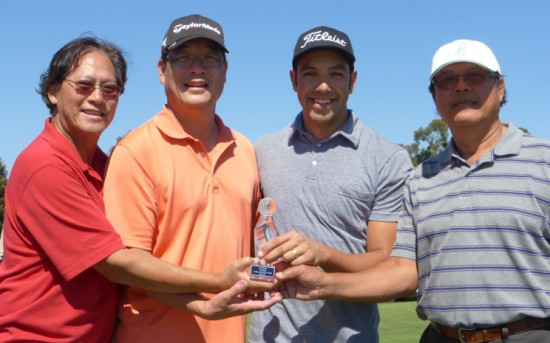 15th annual MAAC Charity Golf Tournament winners, from left: Mike Wong, Randy Louie, Charles Chaloeicheep, Sakul Chaloeicheep.