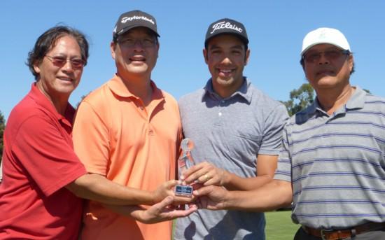 15th annual MAAC Charity Golf Tournament winners, from left: Mike Wong, Randy Louie, Charles Chaloeicheep, Sakul Chaloeicheep.