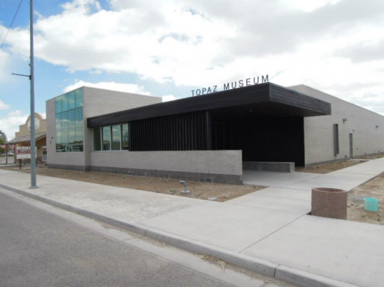 The nearly completed Topaz Museum in April.