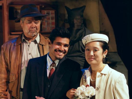 "Randall Nakano, Andres Ortiz and Melanie Mah star in ""Valley of the Heart."" (Photo by Robert Eliason)"
