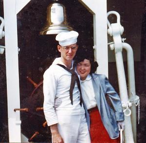 Emiko and Steve Kasmauski in 1952 in Japan.