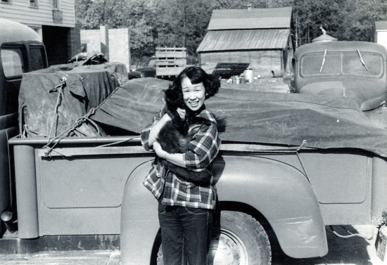 Kathryn Tolbert's mother, Hiroko, on a farm in 1953.