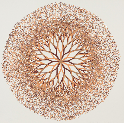 """Desert Flower,"" 1965 Ruth Asawa (American, 1926-2013) Lithograph, 2nd state Sheet: 18-1/2 x 18-1/2 in. (47.0 x 47.0 cm) Norton Simon Museum, Anonymous Gift, 1966 P.1966.07.119 © 2014 Estate of Ruth Asawa"