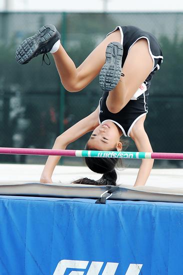 high jump girl