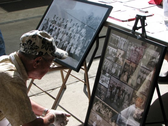 Historical photos of the Japanese American community in Sawtelle were displayed at this year's Obon Festival at West L.A. Buddhist Church. (J.K. YAMAMOTO/Rafu Shimpo)