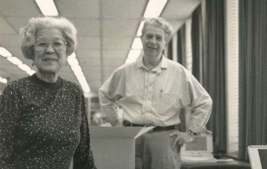 Aiko Herzig Yoshinaga and the late Jack Herzig.