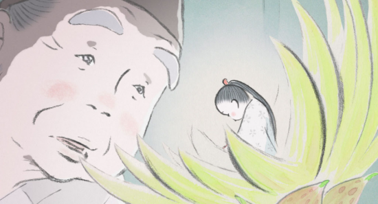 "A woodcutter discovers a tiny princess in a bamboo stalk in ""The Tale of Princess Kaguya."" Kaguya-Hime grows rapidly into a beautiful young woman in ""The Tale of Princess Kaguya."" Photo credit: © 2013 Hatake Jimusho – GNDHDDTK"