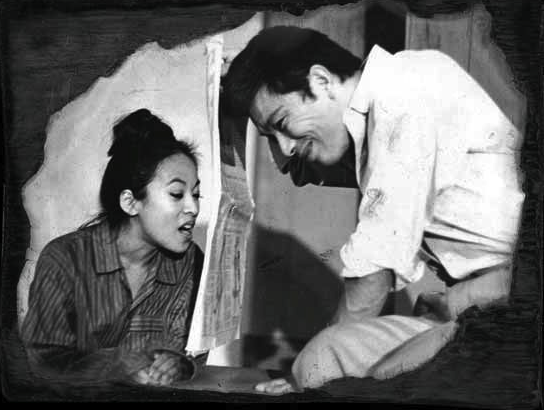 "Sumi Haru and Mako in East West Players' 1970 production of ""Tondemonai — Never Happen"" by Soon-Teck Oh."