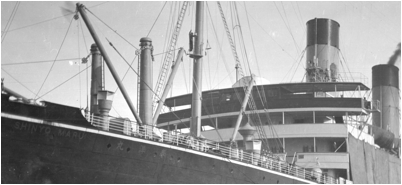 Detail of 1912 photo of Shinyo Maru by Charles Furuta. (Courtesy Historic Wintersburg and Furuta family)