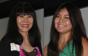 Chapter honorees France Yanai Wong (Hollywood) and Michelle Yamashiro (SELANOCO).