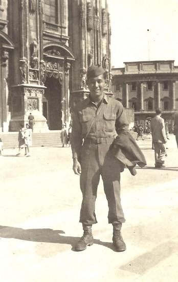 James Mitsumori in Milan, Italy in 1945.