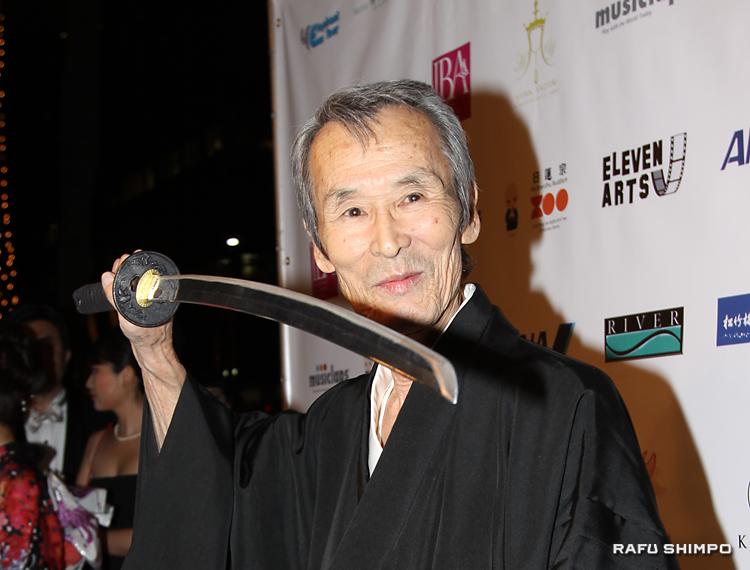 映画 「太秦ライムライト」で初めて主役を務めた「5万回斬られた男」の異名をとる、斬られ役俳優の福本清三