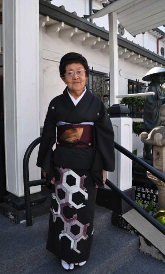 "Bando Mitsusa at Koyasan Buddhist Temple in Little Tokyo during a ""Hidden Legacy"" program in 2010."