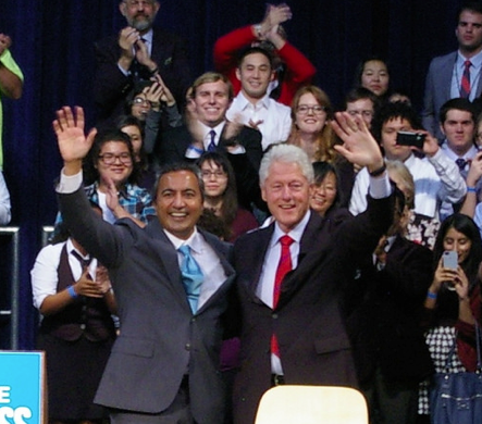 Rep. Ami Bera received support from former President Bill Clinton and other Democratic leaders.