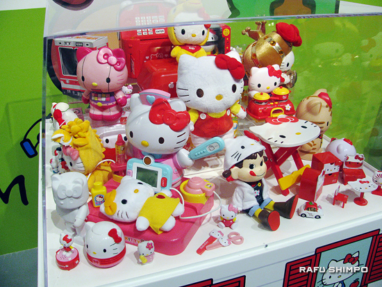 Just a small sample of the many cute Kitty products on display at KittyCon.
