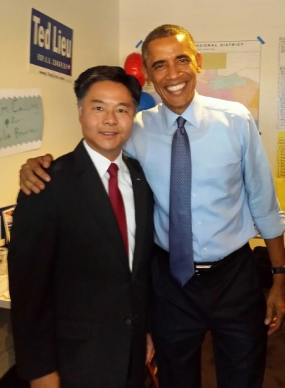 President Obama visited Ted Lieu's Venice campaign headquarters shortly before the general election.