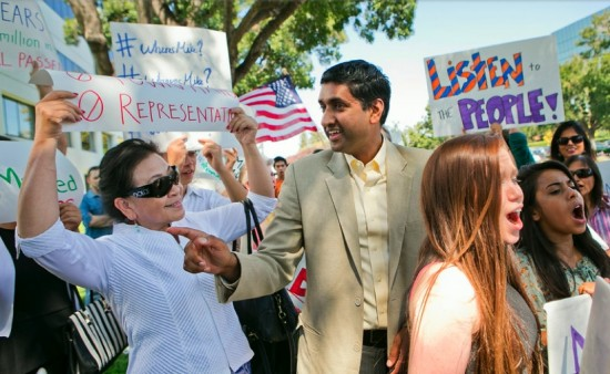 Ro Khanna on the campaign trail.