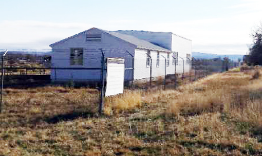 Non-historic chain-link security fence, Tule Lake Unit.