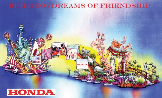 Rendering of Honda's float in the 2015 Rose Parade.