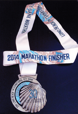 The medal David Ogata received for his 20th-place finish.