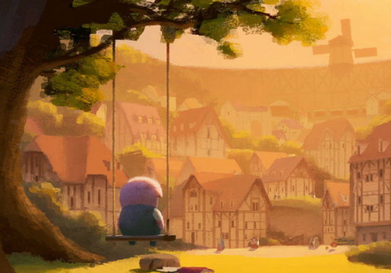 "A scene from ""The Dam Keeper."""