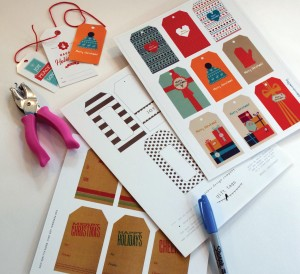 Holiday gift tags are free online downloads.