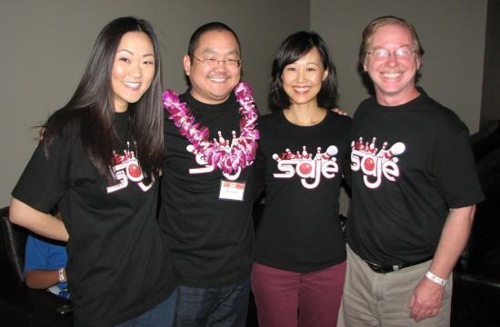 Cold Tofu Improv's Team SAJE (from left): Jully Lee, Aaron Takahashi, Elaine Kao, Steve Brady.