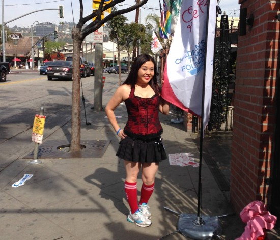 Diane Kimi Akutagawa participated in Cupid's Undie Run last year.