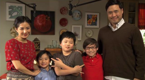 "Constance Wu, Hudson Yang, Randall Kim play the Huang family in ""Fresh Off the Boat."""
