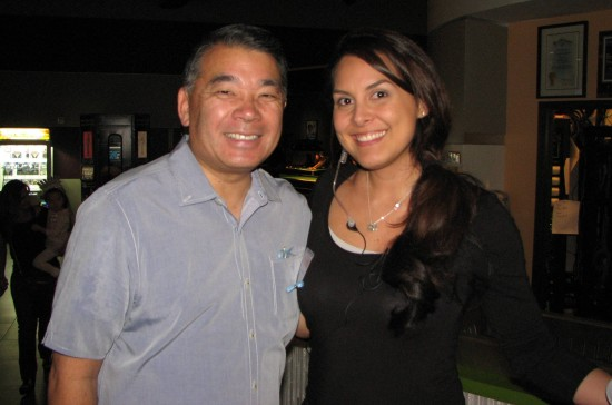 LAPD Deputy Chief and Nisei Week Foundation President Terry Hara and Lauren Kinkade-Wong, 2001 Nisei Week Queen and tournament co-chair.