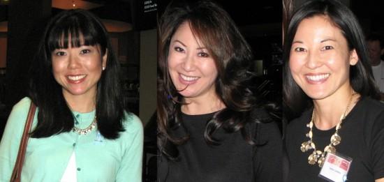 From left: Linda Hatakeyama-Nakagawa, 2003 Nisei Week Princess; Tiffany Hattori, 1998 Nisei Week Queen; Joann Cordeiro, 1996 Nisei Week Queen.